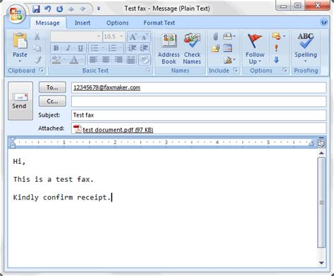 sending faxes  email