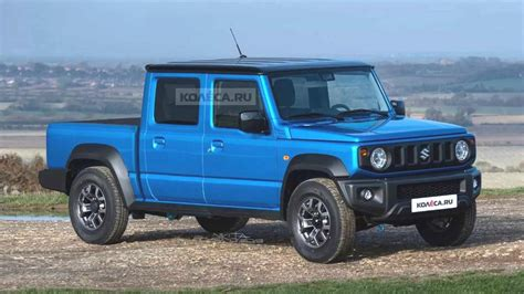 There are places in the world only the jimny can go. India-Bound Suzuki Jimny Rendered As A Pickup Truck