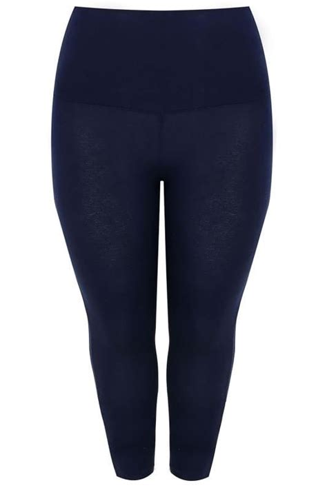 control leggings tummy cropped touch navy soft lazy double silver pack