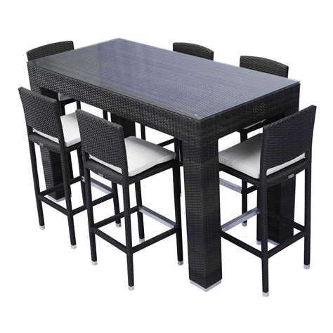 outdoor dining table bar height home decor interior