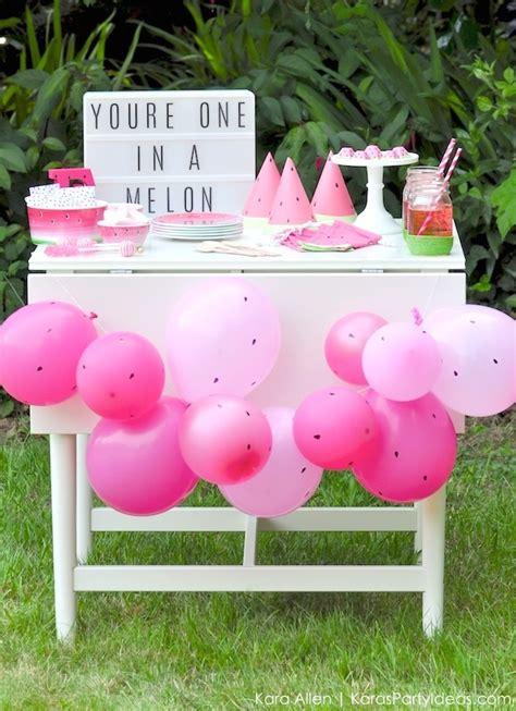 kara 39 s party ideas watermelon fruit summer girl 1st kara 39 s party ideas summer watermelon diy birthday party