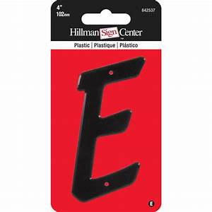 the hillman group 4 in black plastic letter e 842537 With black plastic letters