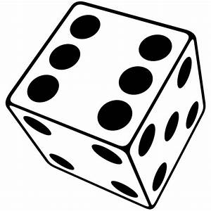 Dice clipart six sided - Pencil and in color dice clipart ...