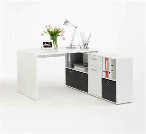bureau d angle moderne bureau d 39 angle réversible contemporain blanc phénicia