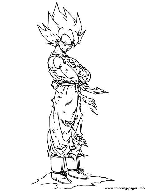 Ssj 2 Vegito Free Coloring Pages