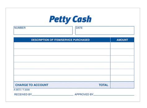 adams petty cash receipt pad 50 sh pd