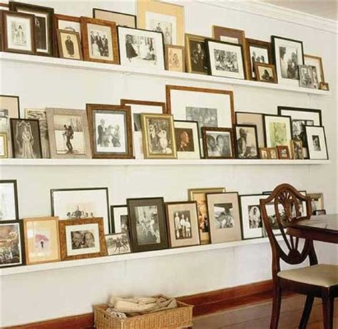 gallery ledge shelves bungalow blue interiors home picture ledge gallery walls