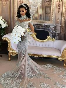 Sparkly Sexy Wedding Dress 2020 Sheer Bling Beaded Lace ...