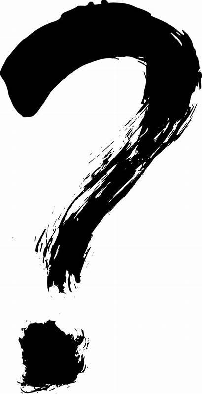 Question Mark Silhouette Paint Brush Grunge Paintbrush