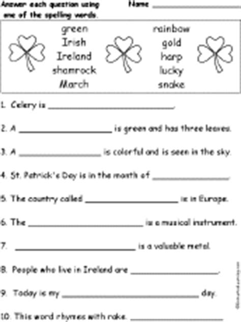 st patricks day crafts  kids enchanted learning