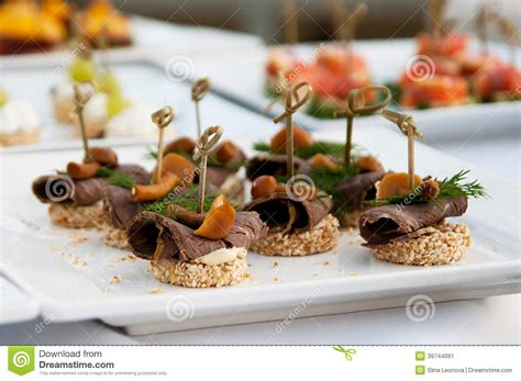 canape banquette canape luxury food for holyday and event stock image