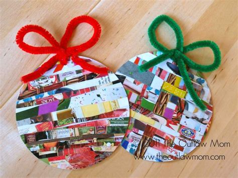 recycling ornament school prjuect ideas activities for toddlers ideal for recycled magazines