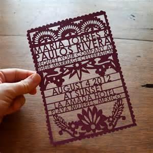 wedding invitation designs papel picado wedding invitations from avie designs