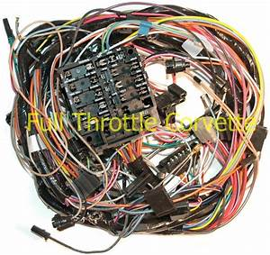 1973 Corvette Dash Wiring Harness Without Air Conditioning
