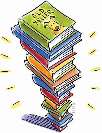 Books Swap Clip Reading Children Stack Pile