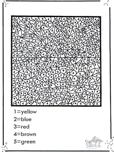 colorir numeros colorindo por numero
