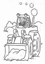 Digger Coloring Tractor Pages Colouring Characters Printables Fictional Tractors Sheets sketch template