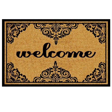 are you a doormat quiz trafficmaster welcome ornate border 18 in x 30 in coir