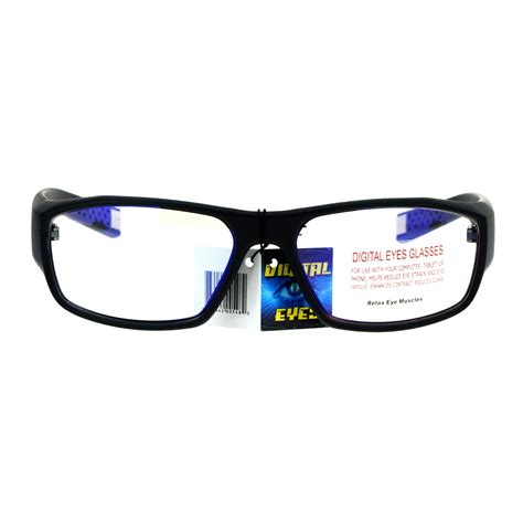 blue light glasses clear mens vision protection blue light blocking computer glasses