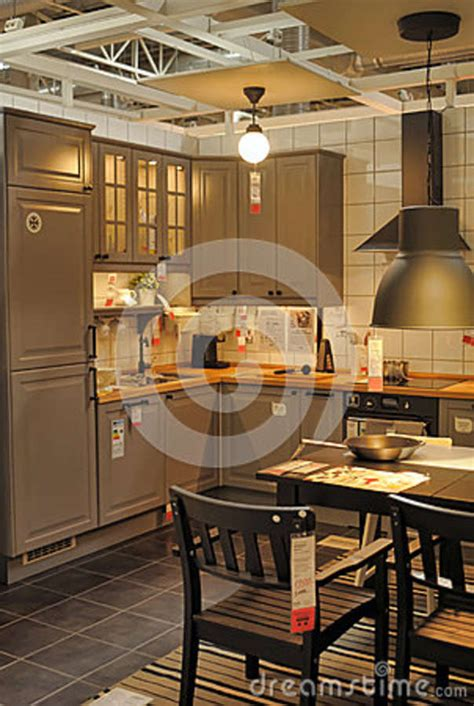 kitchen furniture store kitchen in furniture store ikea editorial photography image 41696757
