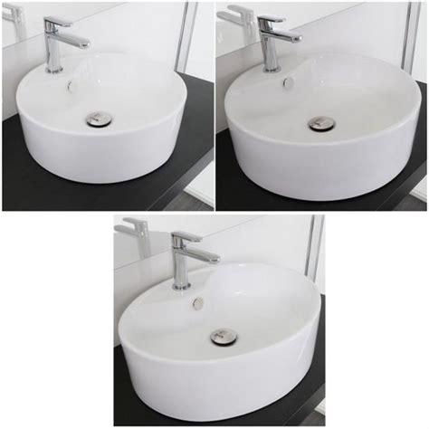Lavandino Bagno Appoggio Tondo 42cm Prezzi Lavabo Da Appoggio In Ceramica