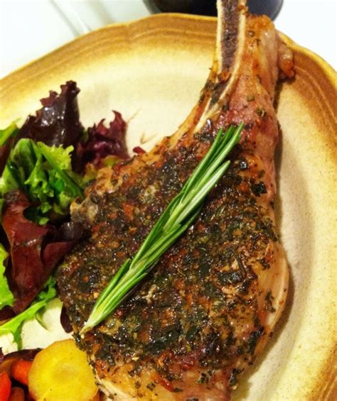 One key to success is choosing the right pork chops. Herb Crusted Pork Chop (With images) | Pork chops, Thick ...