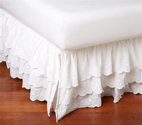 Pottery Barn Bed Skirts by Eyelet Bed Skirt Pottery Barn Decorating