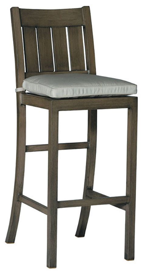 croquet bar height outdoor bar stool with cushion 30 quot h