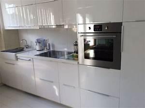 Ikea Küche Alt : k che wei hochglanz ikea 2 jahre induktionsherd 3 48 m in k ln k chenzeilen anbauk chen ~ Frokenaadalensverden.com Haus und Dekorationen