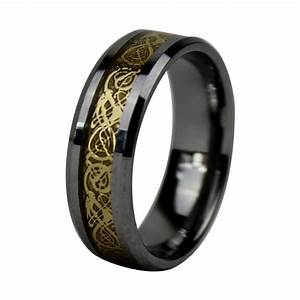 8mm tungsten carbide dragon ring for men gold tungsten With wedding rings for men tungsten