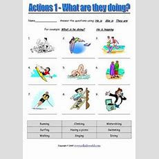 Actions 1  What Are They Doing? Worksheet For 1st  3rd Grade  Lesson Planet