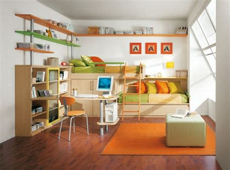 Bright And Colorful Kids Room With Lime And Orange Pillows