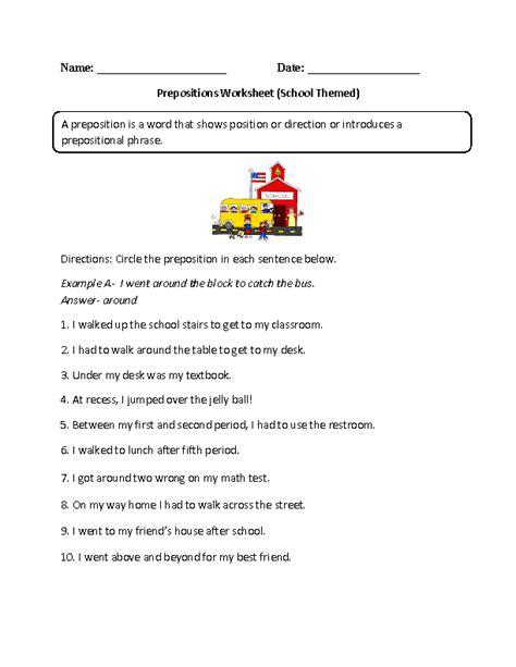 englishlinx com prepositions worksheets teaching