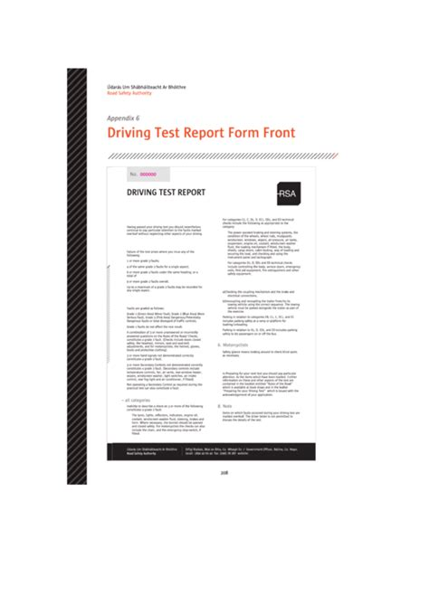 top 7 driving performance evaluation score sheets free to