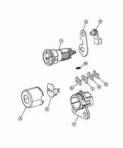 Ram Base Cap  Door Lock Cylinder  Liftgate Lock Cylinder