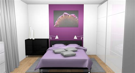 chambre prune chambre decoration prune