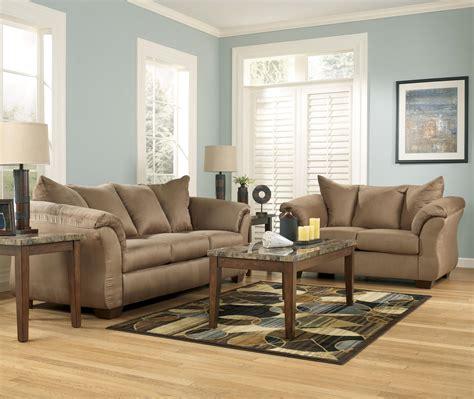darcy sofa and loveseat benchcraft darcy mocha sofa loveseat best rents plus