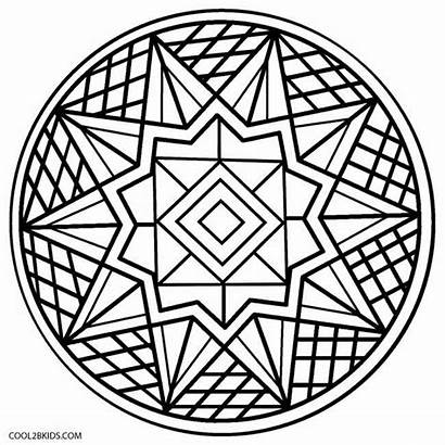 Kaleidoscope Coloring Pages Easy Printable Adults Adult