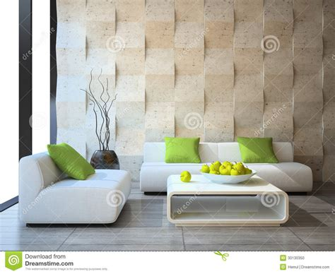 Interior With Concrete Wall Panels Stock Photo