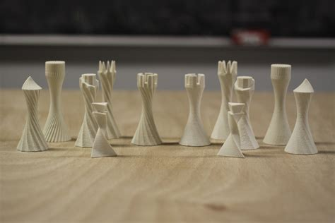 printed parametric chess set  behance