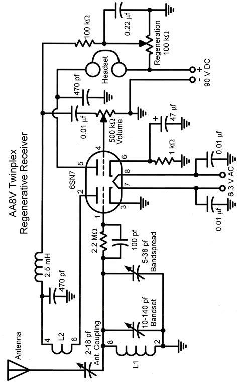 the aa8v twinplex regenerative receiver schematic diagrams and circuit descriptions