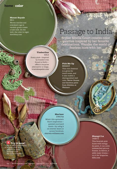 Better Homes And Gardens House Colors passage to india color palette mojan sami