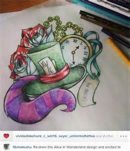 Alice in Wonderland Awesome Tattoo