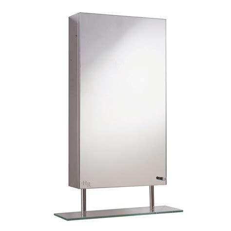 hudson reed baltimore stainless steel single mirror cabinet at plumbing uk