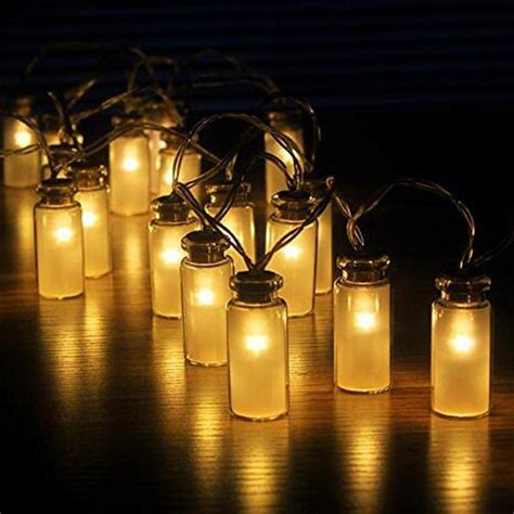 battery operated outdoor string lights jar string lights garden deck patio lighting battery
