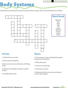 science crossword systems