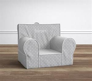 gray pin dot anywhere chairr pottery barn kids With anywhere chair sizes