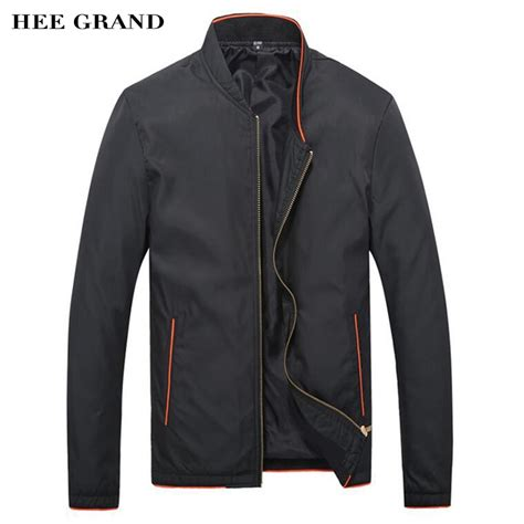 aliexpress com buy hee grand men jacket spring autumn thin coat solid color casual slim