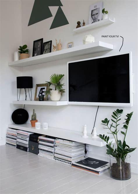 ikea lack shelves minimalistisk stue stue innredning