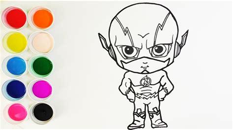 como dibujar  colorear flash dibujos  ninos   draw flash funkeep youtube